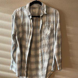 Button Down Plaid Shirt - a new day